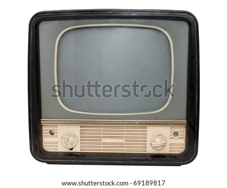 Retro TV on a white background