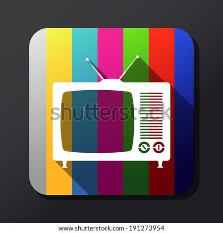 Retro TV sign - illustration - stock photo