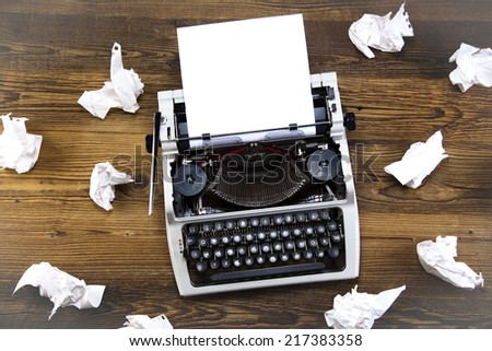 Retro typewriter - stock photo