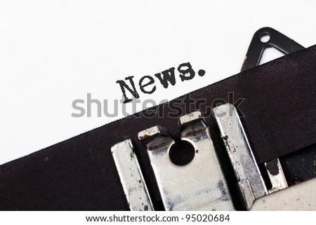 Retro typewriter text news - stock photo