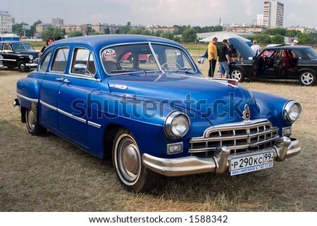 Retro USSR car ZIM (GAZ-12) - stock photo