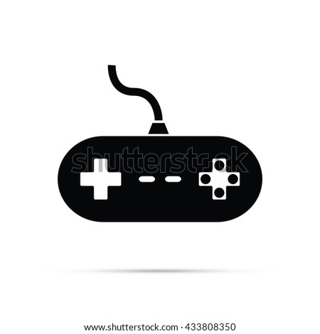Retro Video Game Controller Icon.  Raster Version - stock photo