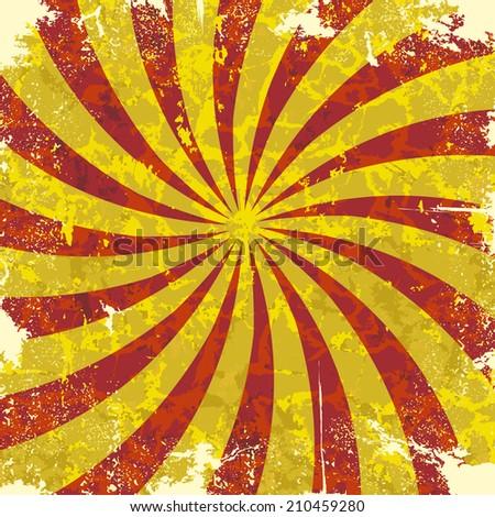 Retro vintage grunge spiral background.  - stock photo