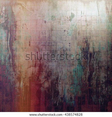 Retro vintage style background or faded texture with different color patterns: yellow (beige); brown; green; red (orange); purple (violet); gray - stock photo