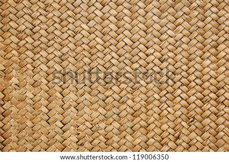 Retro woven wood pattern background - stock photo