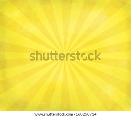 Retro yellow grungy star bust background - stock photo
