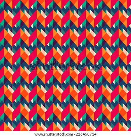 retro zigzag seamless texture (raster version) - stock photo