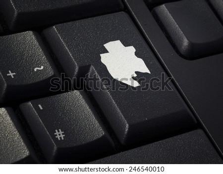Return key in the shape of Gabon.(series) - stock photo
