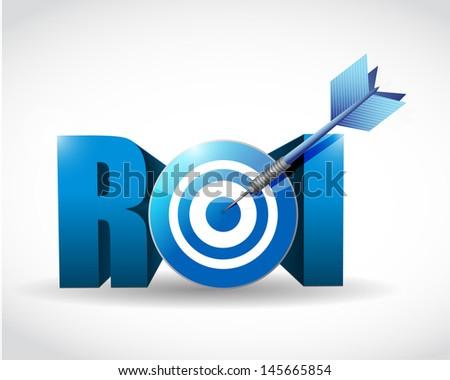 Return on investment business concept. target illustration design over white - stock photo