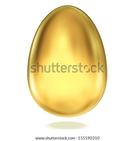 Return on investment concept, Golden egg isolated on white background. - stock photo