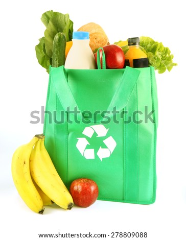 Reusable Grocery Bags - stock photo