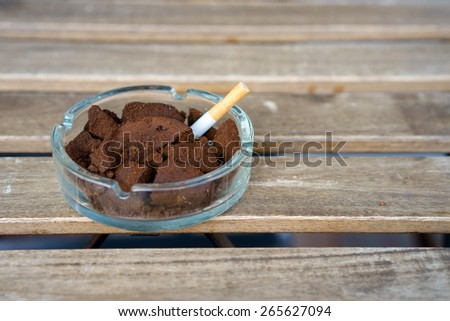 Reused for grind coffee debris to used make ashes for Ash - stock photo