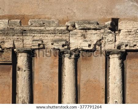 Reused roman ruins   - stock photo