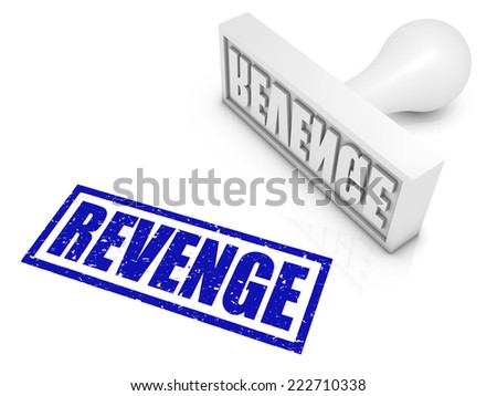 REVENGE rubber stamp. Part of a series of stamp concepts. - stock photo