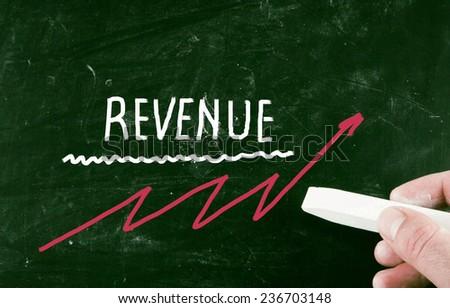 revenue concept - stock photo