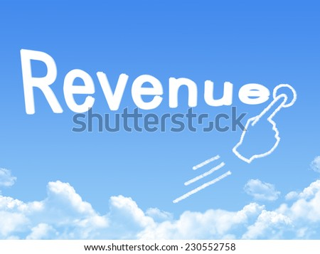revenue message cloud shape  - stock photo