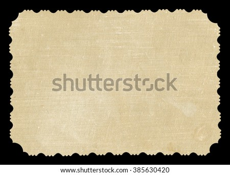 Reverse side of an old photo print with a decorative border, background - stock photo