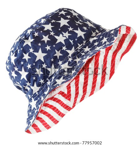 Reversible fabric hat, stars & stripes
