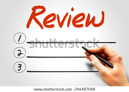 REVIEW blank list, business concept - stock photo