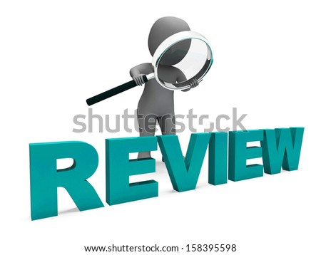 Review Character Showing Assess Reviewing Evaluate And Reviews - stock photo