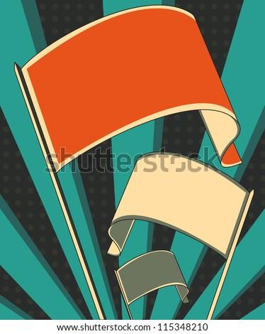 revolution flag poster - stock photo