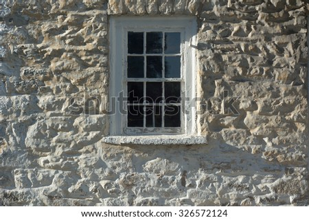 Revolutionary War Barracks Detail with Window in Frederick Maryland - stock photo