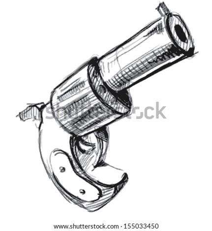 Revolver icon - stock photo