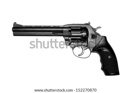 Revolver isolated on white background.