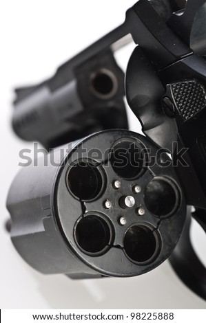 Revolver on a white background - stock photo