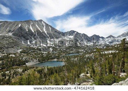 Rewarding views of Little valley lakes, California