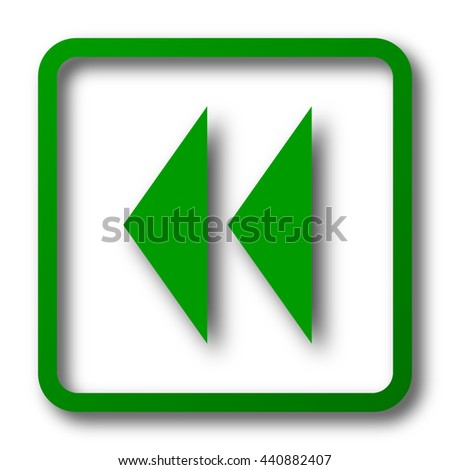 Rewind icon. Internet button on white background.