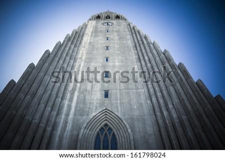Reykjavik church - stock photo