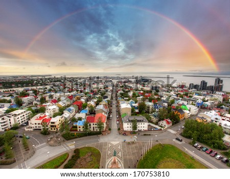 Reykjavik cityspace  - stock photo