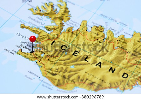 Reykjavik Pinned On Map Iceland Stock Photo Shutterstock - Reykjavík map