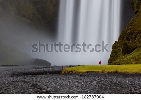 Reynisdrangar cliffs, South Iceland - stock photo