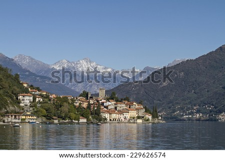 Rezzonico - idyllic little fishing village situated on Lake Como - stock photo