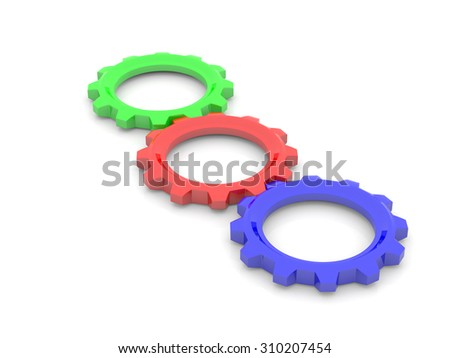 RGB, red, green, blue, primary color concept. 3d - stock photo