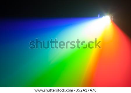 rgb spectrum light of projector - stock photo