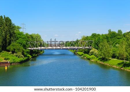 Rhein-Herne-Canal - stock photo