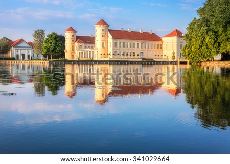 Rheinsberg Castle in Ostprignitz-Ruppin, Noth-Eastern Germany - stock photo
