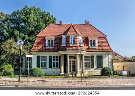 Rheinsberg city villa - stock photo