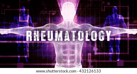 Rheumatology as a Digital Technology Medical Concept Art 3D Illustration Render