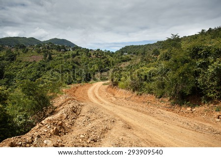 Rhi Village near the Indian border in Chin State, Myanmar (Burma) - stock photo