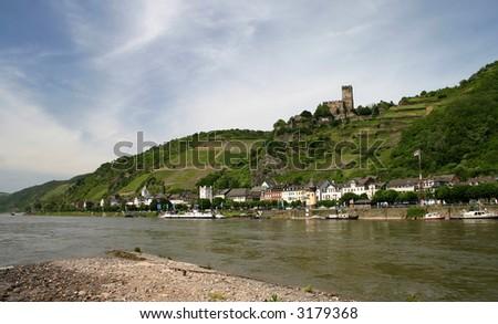 Rhine castle - stock photo