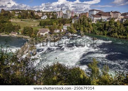 Rhine falls, Switzerland - stock photo