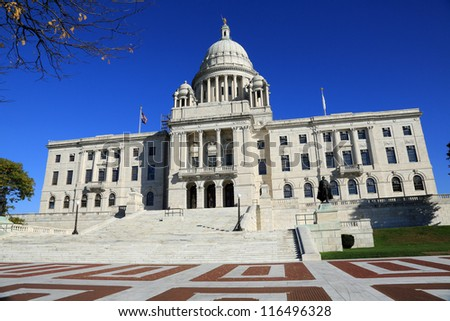 Rhode Island State Capitol building in downtown Providence