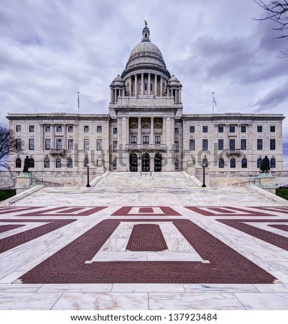 Rhode Island State House in Providence, Rhode Island. - stock photo