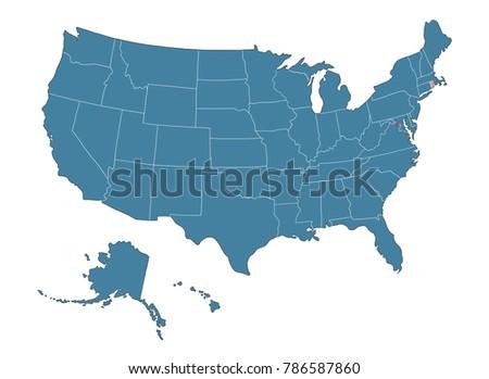 Rhode Island State Map Usa Stock Illustration 786587860 Shutterstock