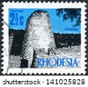 RHODESIA - CIRCA 1970: A postage stamp printed in Rhodesia, shows the ruins of Great Zimbabwe, circa 1970 - stock photo