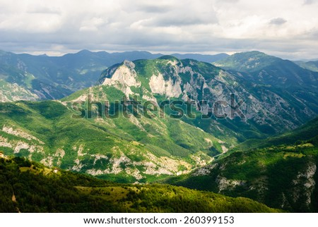 Rhodope mountain.Bulgaria.